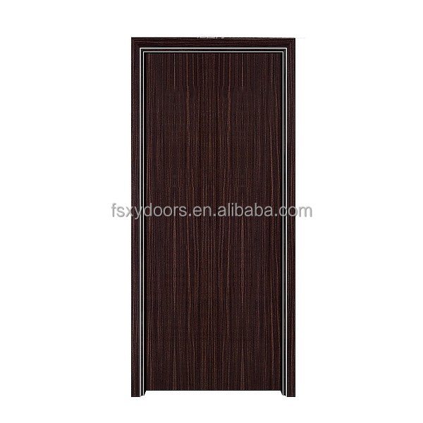 Aluminium frame aluminium panel laminated flat interior metal doors
