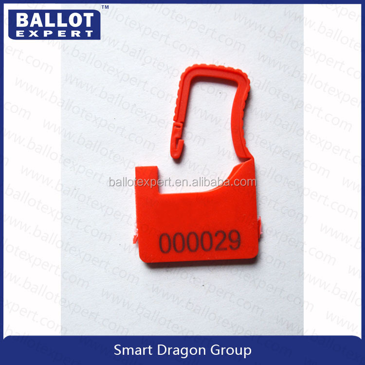 ring form security seal insert style plastic safety seal for door lock /container lock /bag seal