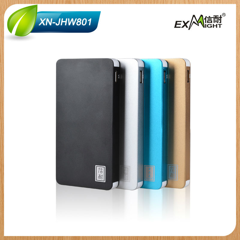 newest 8000mah polymer Power bank with clock