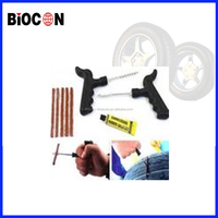 china's Car Bike tubeless flat tire repair tools kit with plugs tubeless