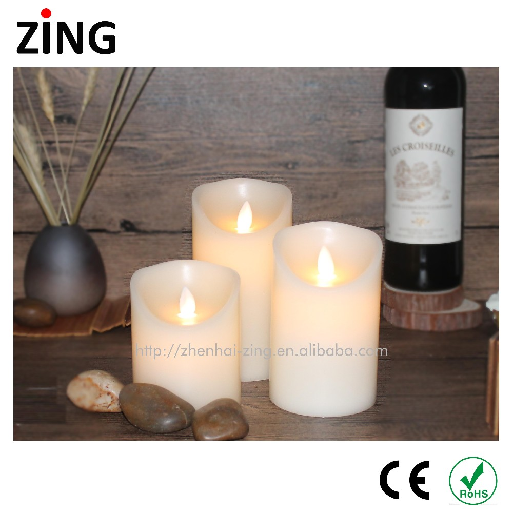 Best price of wax flickering led pillar candles With the Quality