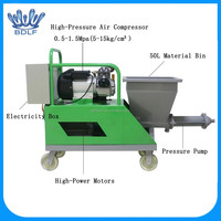 cement sand mixing plaster machine