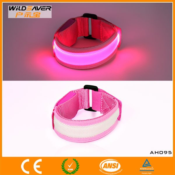 led running bracelet/wristband customized/light up wristband