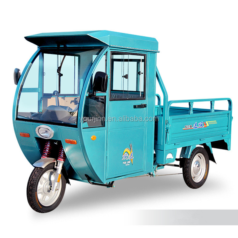 china 48v 800w electric cargo tricycle with closed cabin
