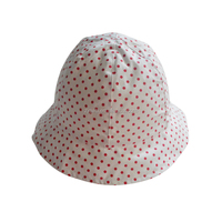 100% cotton dot printed baby bucket hat