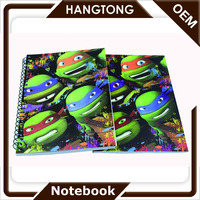 high quality full color line paper spiral Notebook for Wholesale