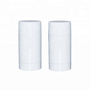 30g 50g 65g 75g PP plastic white black empty rotated tube / twist deodorant container / solid sunscreen stick bottle