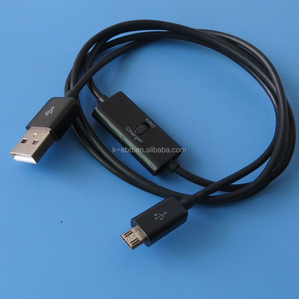 Micro usb data charging cable with switch oem good quality