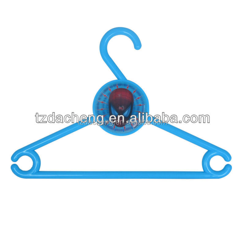 Children Use White Heavy Duty3D Lenticular Printing plastic suit hanger