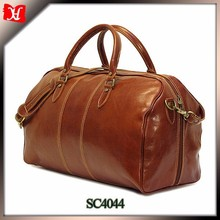 High quality Best Genuine fashion leather custom travel duffle bags