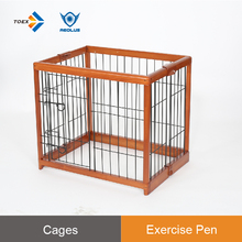 EPW - S Rubber Wood CollapsibleDog Daycare Facility Metal Exercise Fence Outdoor Play Pen