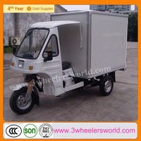 2015 good quality 3 wheel gasoline cargo tricycle with cabin for sale