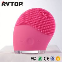 Octopus shape Pink Silicone Face Cleansing Brush Facial Scrubber Deep Pore Cleaning Brush