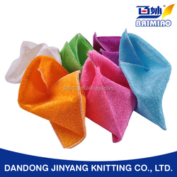 wholesale bamboo fiber dish cleaning cloth for family and hotel use