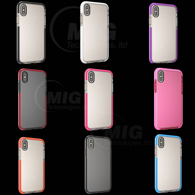 Drop resistant Soft TPU transparent phone case for iPhone 8 mobile back cover for iphone 7 case tpu phone colorful accessories