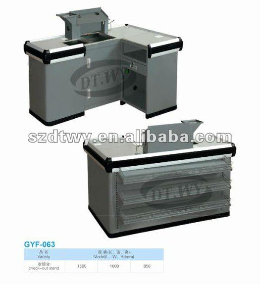 Supermarket cash counter with competitive price and fashion design