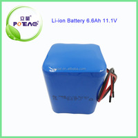 18650 12V 6.6Ah li-ion battery pack for power tools