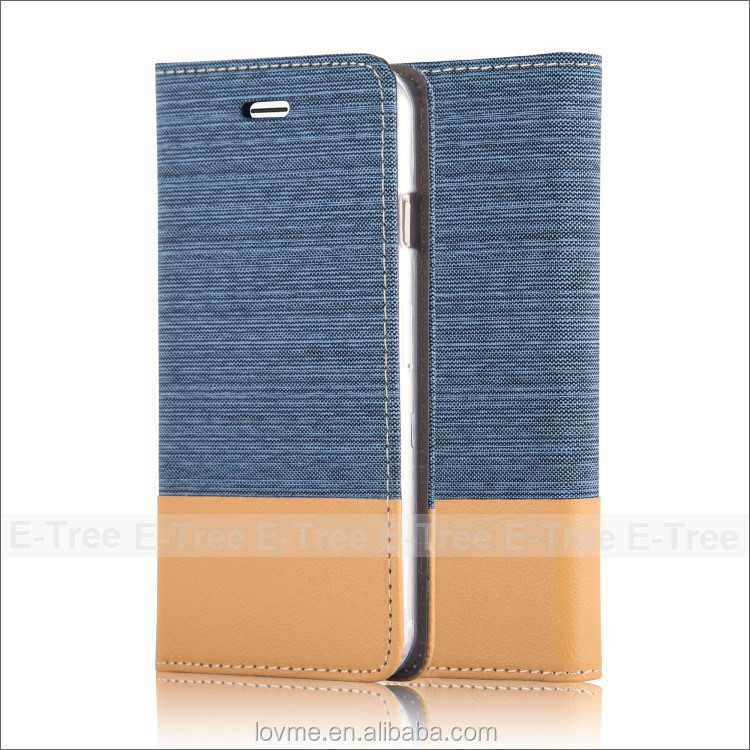 Jean Book Wallet Leather Mobile Phone Case Back Cover For iPhone 6