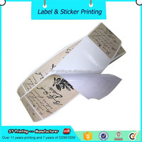 Custom PVC stickers printing letter design custom labels for packaging