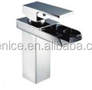 wholesale wenzhou factory popular Irael bathroom square vanity glass waterfall basin mixer FNF22111A