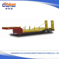 China Popular Supplier New Type 40ft Drop Side Lowbed Semi Trailer Price (Customized)