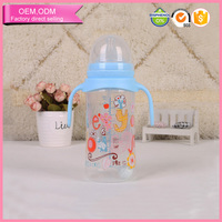 factory supply food grade pp baby bottle bpa free with handle