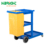 plastic housekeeping cleaning cart