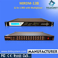 2016 Telecast 12 In 1 HD Satellite Receiver with high quality mpeg4 fta satellite receiver
