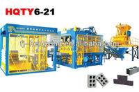 Cement brick manufacturing plant/machine HQTY6-15 automatic concrete block making machine