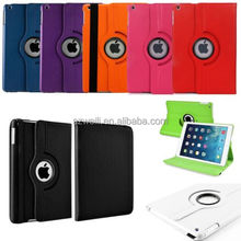 New 360 Rotating PU Leather Cover Stand Case For Apple iPad Air 5 5th