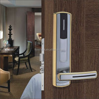five-star hotel card access control door lock system with free software