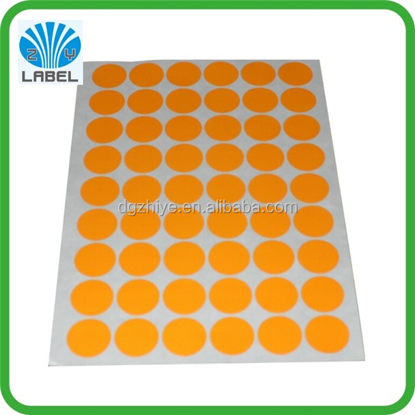 Factory price dot full color printing label stickers with sheet package