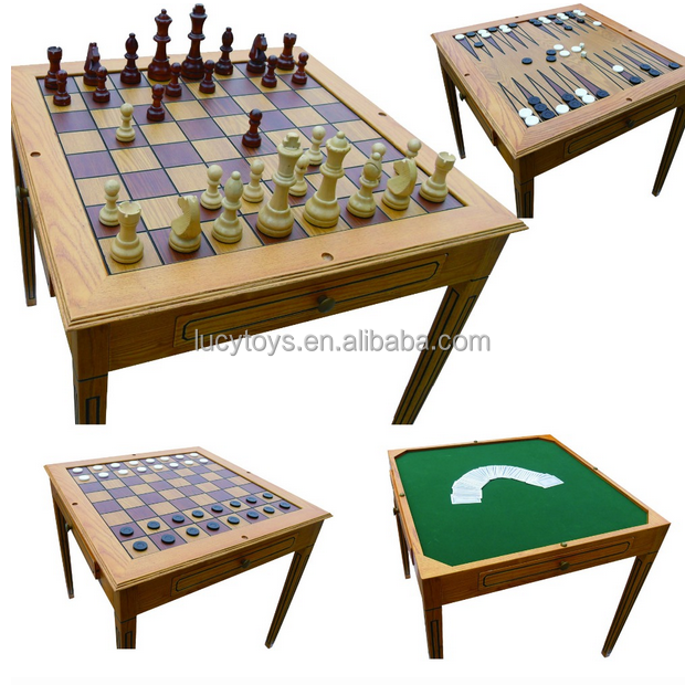 high quality outdoor chess table , wooden chess table , backgammon chess table