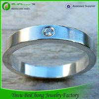 2014 joyas stainless steel couple ring