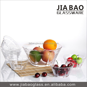7pcs Clear Glass Salad bowl set