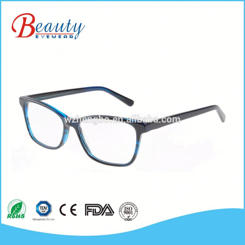 Good quality classical transparent orange spectacle frames