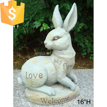 Fiber rabbit stone garden decoration for sale