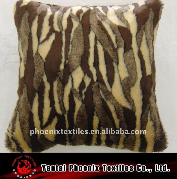 faux/fake animal fur cushion