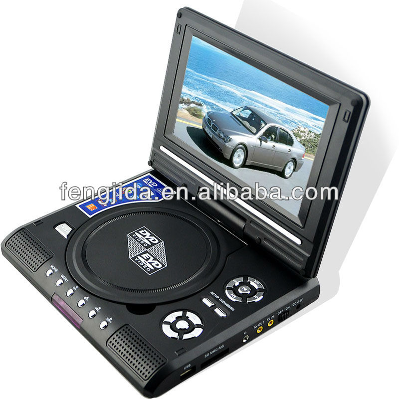 ultra super slim portable dvd player with 3d