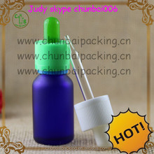 blue Dropper bottle 15ml for e liquid with white cap,different color circle