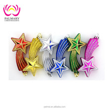 Wall Hanging Lacquer Wooden Christmas Star Decoration,Wooden Pieces Ornament