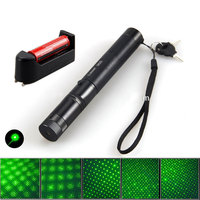 Adjustable Focus Burning Match Laser 303 Green Laser Pointer