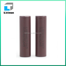 for LGHG2 vaporizer battery china supplier LG HG2 3000mah 18650 3.6V 20A discharge li-ion Battery
