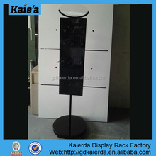 swivel display stands/swivel display rack/free standing wire display racks