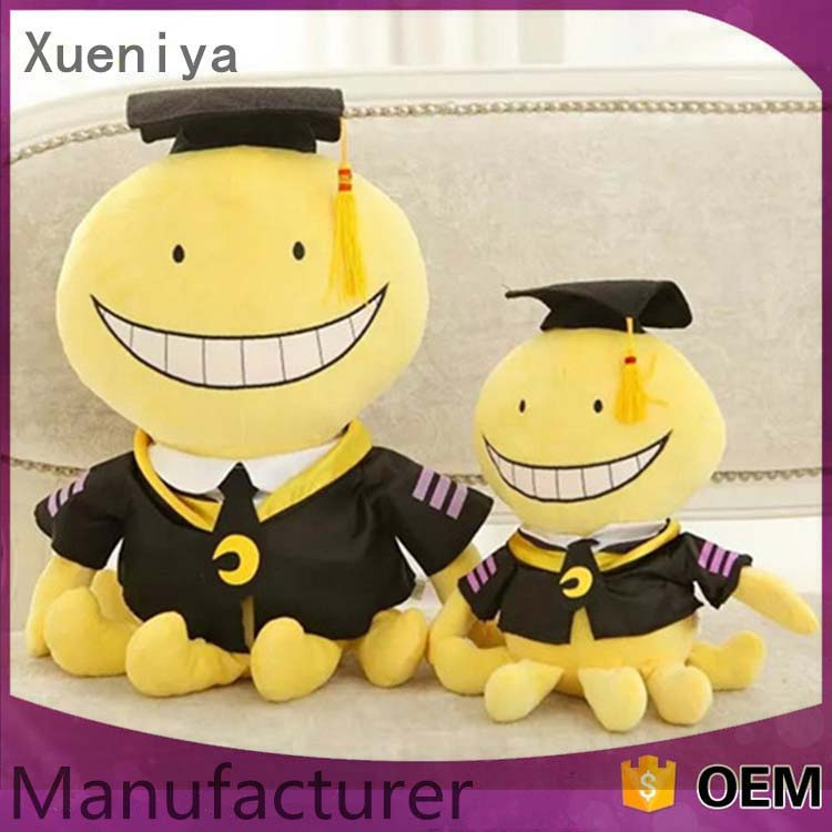 Custom Cute Soft Stuffed PP Cotton Emoji Pillow Octopus Plush Toy