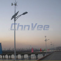 Energy-saving 40w electric generator vertical axis wind turbine Solar Street Lighting