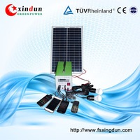Affordable Price High Efficiency 10W to 30W 7-12A Portable Mini Solar Lighting DC System For Home