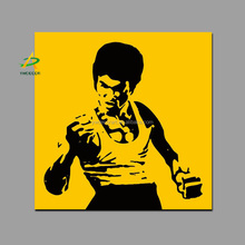Bruce Lee Portrait Canvas Painting Classic Action Fabric Picture Wall Art Photo Decoration