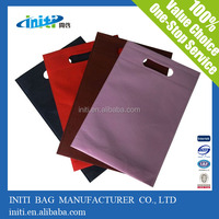 Pink Die Cut Non Woven Bags Foldable Bag Heat Seal/Ultrasonic Process Nonwoven Bag