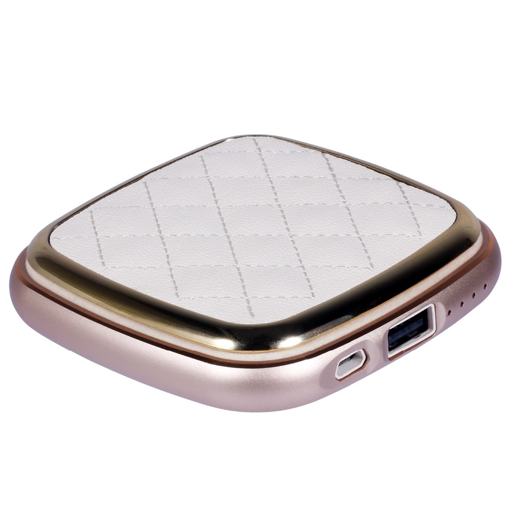 Portable USB Charger 4000mAh Girls Cosmetic makeup mirror Mobile Power Bank